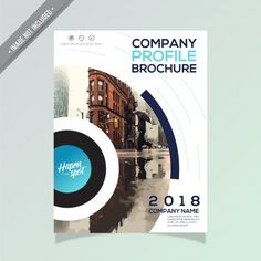 Modern business brochure design Free Vector