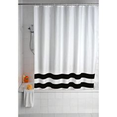 Wenko Tropic Polyester Shower Curtain - W1800 x H2000mm - Black - 19241100 Victorian Plumbing