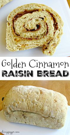 Golden Cinnamon Raisin Bread - This recipe is perfect for a sweet breakfast and makes delicious toast. Add frosting for the best breakfast dessert that tastes like a cinnamon roll. | Chicago Jogger