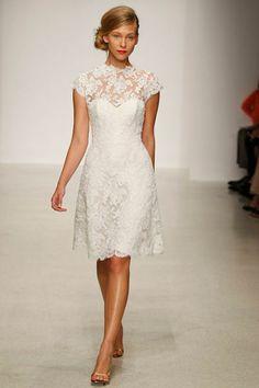 short wedding dress lace