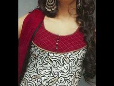 Kameez neck cutting and stitching video in hindi Churidhar Neck Designs, Salwar Neck Designs, Churidar Designs, Neck Designs For Suits, Kurta Neck Design, Neckline Designs, Designs For Dresses, Dress Neck Designs, Blouse Designs