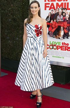 Olivia Wilde steals the show at Love The Coopers premier in LA | Daily Mail Online