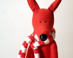 My Red Fox stuffed animal toy for children by andreavida on Etsy