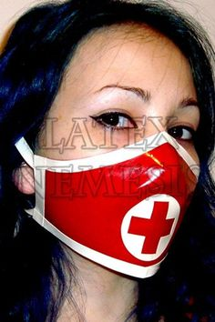Latex Rubber Medical Nurse Surgical Mask, Trimmed, Many color options