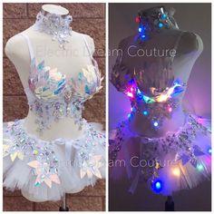 Rave Bra, Rave Corset, Edc, Showgirl Costume, Rave Costume, Hippie Costume, Tutu, Mermaid Bra, Belly Dancing Classes