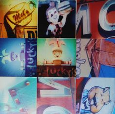 vintage signs photo collage