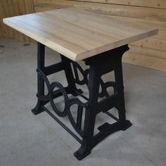 Table mange-debout industrielle bois métal