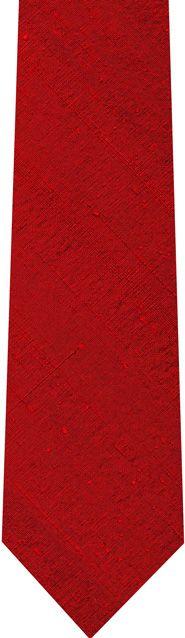 Red Thai Rough Silk Tie #8