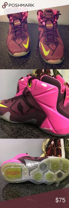 2f0cc1ff837eb Nike LeBron James 12 YOUTH SIZE I am a girl and I wear a woman s Good  condition.