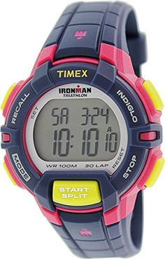 Women  Watches - Timex Womens T5K813 Ironman Rugged 30 MidSize BluePink Color Block Resin Strap Watch >>> Check this awesome product by going to the link at the image. (This is an Amazon affiliate link)