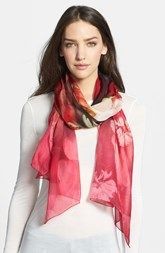 Ted Baker London 'Rose on Canvas' Silk Scarf
