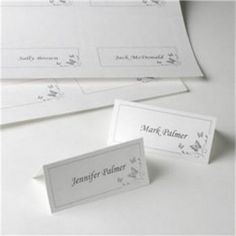 42 Print At Home White with Silver Butterfly Place Cards Butterfly Place, Diy Butterfly, Butterfly Print, Printable Place Cards, Wedding Place Cards, Table Cards, Place Card Holders, Silver, Prints
