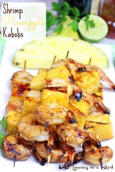 Shrimp Pineapple Kabobs | Running in a Skirt