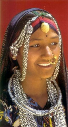 India | Tribal jewellery of Rajasthan | Photographer unknown.