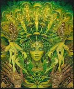 Green Woman meets Terence McKenna #psychedelicmindscom psy-minds.com