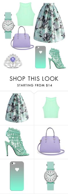 """""""Mixing Patterns"""" by sydneefikes03 ❤ liked on Polyvore featuring Chicwish, Kate Spade, Casetify, Timex and Ice"""