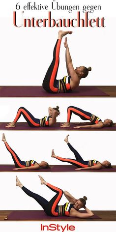 Flat stomach: These six fitness exercises really bring .- Flacher Bauch: Diese sechs Fitnessübungen bringen richtig viel Flat stomach: These six fitness exercises bring a lot - Yoga Fitness, Fitness Workouts, Sport Fitness, Workout Routines, Fitness Goals, Fun Workouts, At Home Workouts, Health Fitness, Fitness Diet