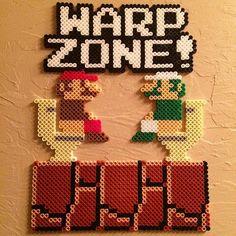 Warp Zone - Mario hama perler beads by universal_pixels: