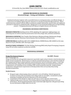 mechanical engineer resume template
