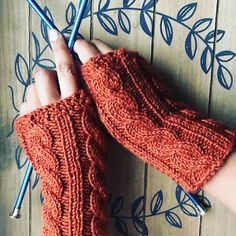 Knit Fingerless gloves by NellysKnitBoutique on Etsy Fingerless Gloves Knitted, Fall Accessories, Arm Warmers, Knit Or Crochet, Cable Knit, Light In The Dark, Hand Knitting, Etsy Shop, Boutique