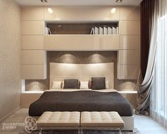 41 Enchanting Master Bedroom Storage Ideas 41 Enchanting Master Bedroom Storage Ideas - The first decision to make is the size of the bed. A small/medium sized room will look less cluttered with a queen-size bed. A king-size bed is apt fo. Bed Headboard Storage, Headboards For Beds, Bedroom Storage, Headboard Ideas, Bedroom Organization, Bed Storage, Bed Headboard Design, Bedroom Shelves, Bedroom Cabinets