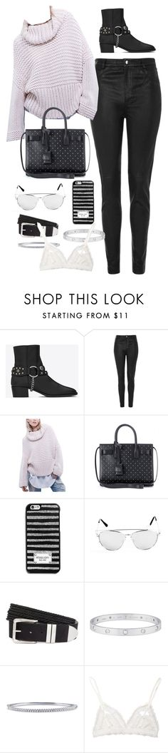 """""""Untitled #8691"""" by katgorostiza ❤ liked on Polyvore featuring Yves Saint Laurent, Topshop, MICHAEL Michael Kors, H&M, Cartier, BERRICLE and Hanky Panky"""