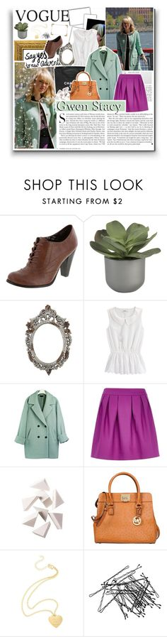 """Gwen Stacy"" by x-jen-cozy-wolves-x ❤ liked on Polyvore featuring Crate and Barrel, Chanel, Kershaw, River Island, Bobbi Brown Cosmetics, Michael Kors and H&M"