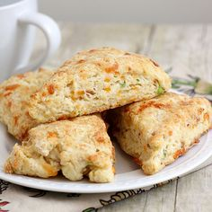 Bacon, cheddar and scallion biscuits