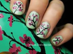 Dessert-Inspired Manicures - The 'Candy Warrior' Tutorial by Chalkboard Nails is Scrumptious (GALLERY) @ http://www.trendhunter.com/trends/candy-warrior-tutorial#!/photos/145585/1