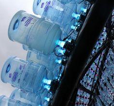 upcycling van PET flessen voor nieuw gebruik bij verlichitng