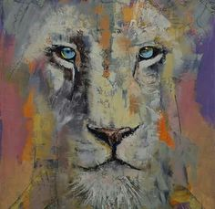Michael Creese Solid-Faced Canvas Print Wall Art Print entitled Leopard Portrait, None Lion Painting, Painting Prints, Wall Art Prints, Canvas Prints, Framed Prints, Canvas Paintings, Lion Wall Art, Canvas Wall Art, Big Canvas