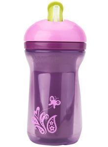 Tommee Tippee Active Straw Cup 12m+ Lilac Ring Tailed Lemur