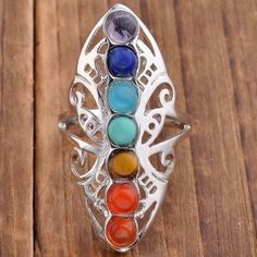 Each of the 7 Chakras represent a centre of spiritual power in the human body. The Chakras represent spirituality, intuition, communication, love, power, sexuality, and survival. This item is a consta