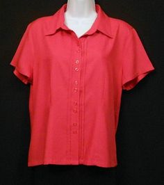 40%-Off Post-Labor Day Sale!  Christopher & Banks Button Front 100% Rayon Shirt/Top Women's Size M NEW | eBay