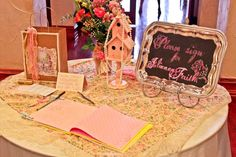 Writing Our Story: Julianna's Shabby Chic Baby Shower