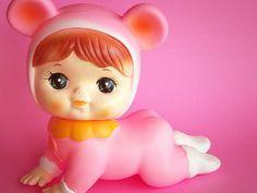 Vintage Rubber Doll Crawling Baby Pink Squeaky Kawaii Japan by Kawaii Japan, via Flickr