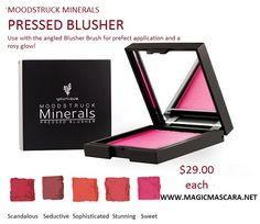 NEW gorgeous pressed blushers!!! ADD YOUR ORDER to a CURRENT FEBRUARY PARTY under your own name and get DOUBLE THE HOSTESS POINTS for YOURSELF!!! DOUBLE DIP!! For free products www.Magicmascara.net