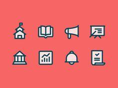 School Iconography by Zach Roszczewski
