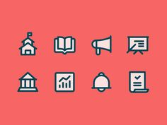 Articulate.png by Zach Roszczewski  icon set, icons, monoline, thick lines, flat