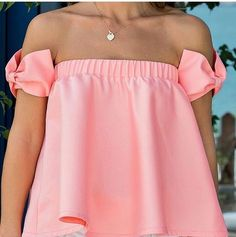 Flared top with bows Girly Outfits, Classy Outfits, Chic Outfits, Dress Outfits, Summer Outfits, Fashion Outfits, Look Fashion, Girl Fashion, Flare Top