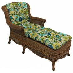 Home furniture and chaise lounges on pinterest for Blazing needles chaise cushion