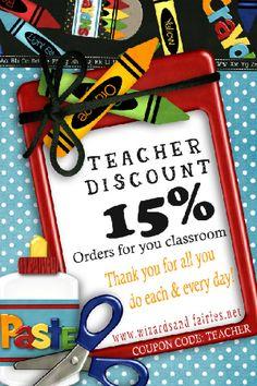 Teacher Discount on Christmas Goodies!