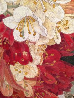 Japanese Print and Clivias (Detail) - Cressida Campbell, 2013  Australian,b.1960-