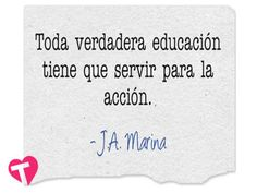Educar para la acción...