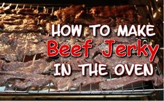 How to make Beef Jerky in the Oven plus a recipe for Asian Turkey Jerky too! Oven Jerky, Venison, Beef, Making Jerky, New Recipes, Larger, Pork, Turkey, Asian