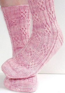 Ravelry: lateniteknitter's Brigit, toe-up socks with twisted stitches and cables, knitted in Oceanwind Knits Sock Merino. Free sock pattern: Brigit by Monkey Toes. Knitting Socks, Crochet Socks, Hand Knitting, Knitting Patterns, Knit Crochet, Crochet Patterns, Knit Socks, Ravelry, Knitting Projects