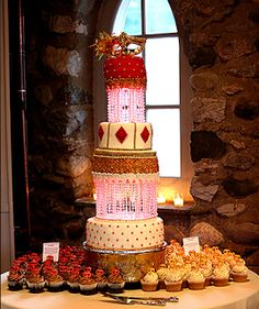 Teen Mom OG's Catelynn Lowell and Tyler Baltierra's wedding cake was a three-and-a-half-foot strawberry shortcake from Cupcake Charlevoix. The impressive cake was covered in crystals and topped with a Venetian mask. Nicky Hilton Wedding, Wedding Album, Wedding Day, Teen Mom 3, Birth Mother, Strawberry Shortcake, Let Them Eat Cake, Wedding Cakes, Venetian