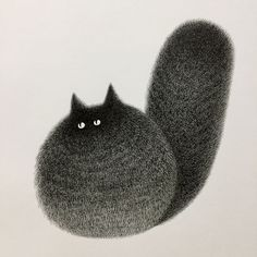 Malaysian Artist Creates Fluffy Cats Using Just Ink And The Result Looks Hauntingly Beautiful | Bored Panda