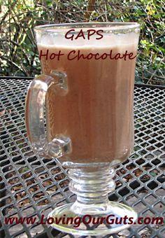 GAPS Hot Chocolate Dairy free, nut free, no coconut milk, and yummy!