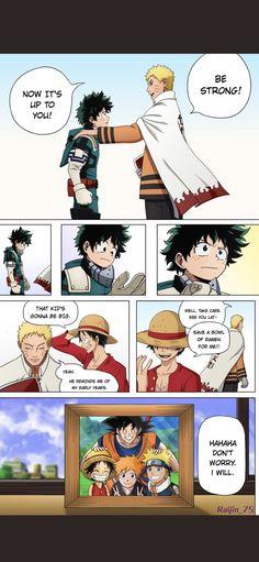Im crying TT My Hero Academia Naruto One Piece Dragon Ball Goku Bleach Anime Naruto, Naruto Uzumaki, Manga Anime, Sasuke, Anime Lol, Goku, Corpse Party, Dragon Ball, Anime Crossover